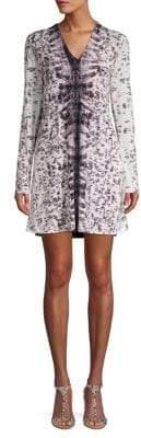 Kenneth Cole V-Neck A-Line Dress