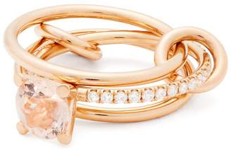 Rosegold SPINELLI KILCOLLIN Sonny 18kt rose-gold, diamond and morganite ring