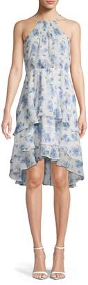 Tommy Hilfiger Floral Tiered High-Low Dress