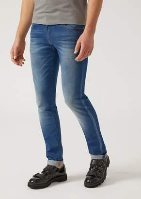 Emporio Armani J10 Extra Slim Fit Stretch Cotton Denim Jeans