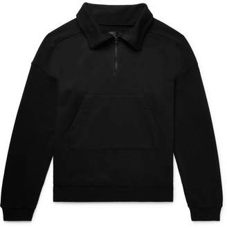 RtA Loopback Cotton-Jersey Half-Zip Sweatshirt