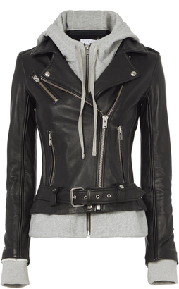 IRO Harper Combo Leather Jacket $1,395 thestylecure.com