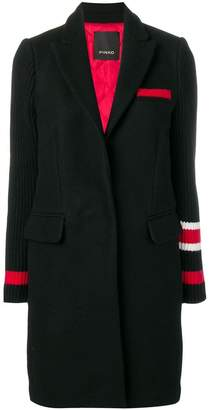 Pinko colour-block fitted coat