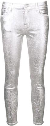 J Brand metallic skinny-fit trousers