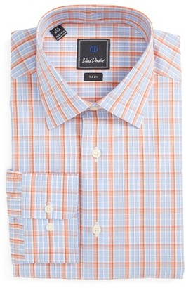 Men's David Donahue Trim Fit Plaid Dress Shirt $135 thestylecure.com