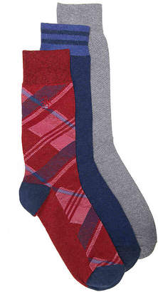 Original Penguin Argyle Crew Socks - 3 Pack - Men's