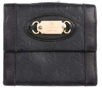 Gucci Guccissima French Flap Wallet