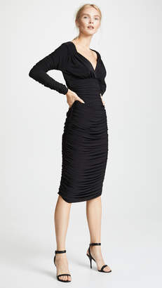 Norma Kamali Long Sleeve Tara Dress