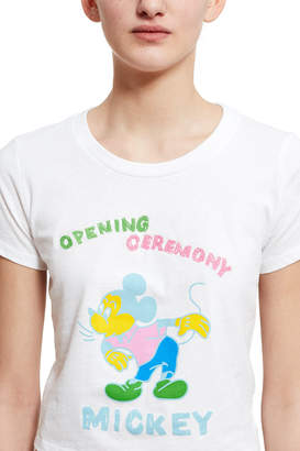 Opening Ceremony Disney® X Cropped Mickey Mouse T-Shirt