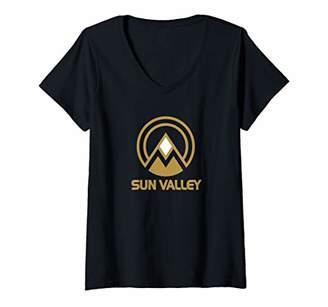 Retro Sun Womens Valley V-Neck T-Shirt