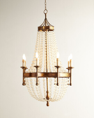 Regina-Andrew Design Regina Andrew Design Frosted Crystal-Bead 8-Light Chandelier