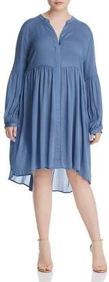 Glamorous CURVY High/Low Gathered Peasant Dress