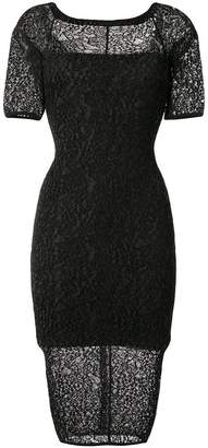 Alexandre Vauthier fitted lace dress