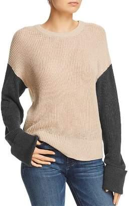 Splendid Color-Block Drop-Shoulder Sweater