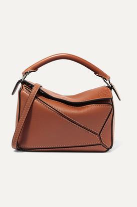Loewe Puzzle Mini Textured-leather Shoulder Bag - Tan