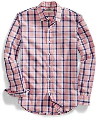 Goodthreads Men's Slim-fit Long-Sleeve Two-Color Windowpane Shirt