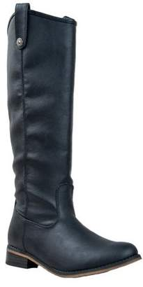 Breckelles Breckelle's RIDER-18 Knee High Stacked Heel Basic Riding Boot,Rider-18 8