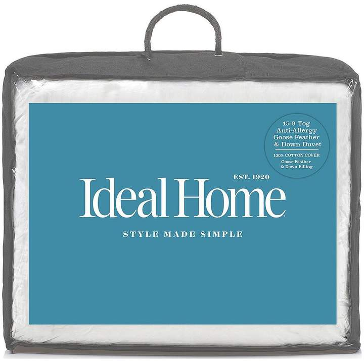 Ideal Home Luxury Anti-Allergy Goose Feather & Down 15 Tog Duvet