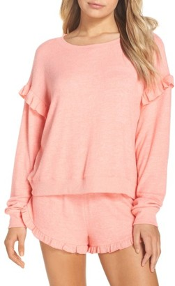 Women's Make + Model Cozy Ruffle Pullover $49 thestylecure.com