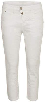 Cream Milus Shape-Fit Quarter Pants