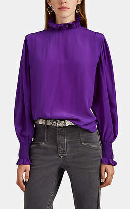 Etoile Isabel Marant Women's Yoshi Silk Crêpe De Chine Blouse - Purple