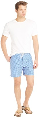 Hermosa Swim Trunk in Gingham $98 thestylecure.com
