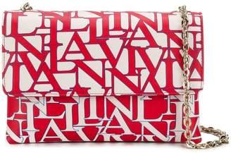 Lanvin printed logo shoulder bag