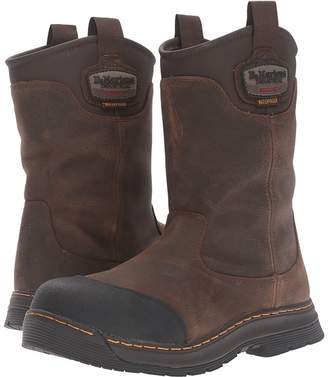 Dr. Martens Work Rush Electrical Hazard Waterproof Composite Toe Rigger Boot Men's Work Pull-on Boots
