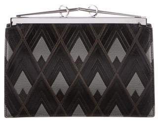 Fendi Patterned Leather Clutch