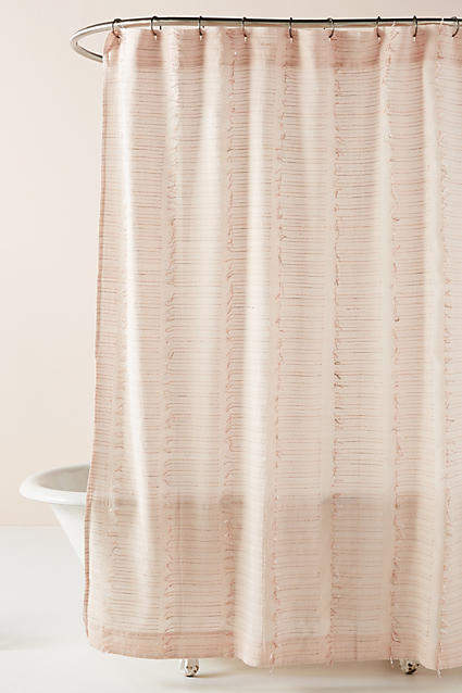 Anthropologie Woven Libby Shower Curtain