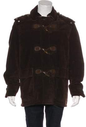 Gucci Hooded Leather Field Jacket