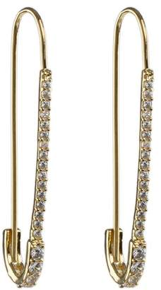 Kenneth Jay Lane CZ By CZ Pave Paperclip Earrings