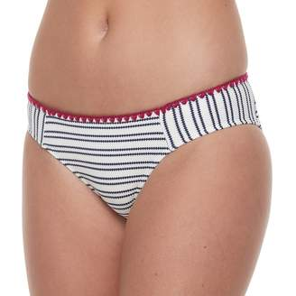 So Mix and Match Textured Striped Hipster Bikini Bottoms
