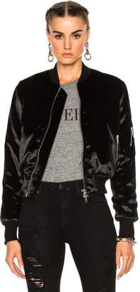 Amiri Long Pile Velvet Bomber Jacket