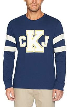 Calvin Klein Jeans Men's Long T-Shirt CKJ Logo with Sleeve Stripe