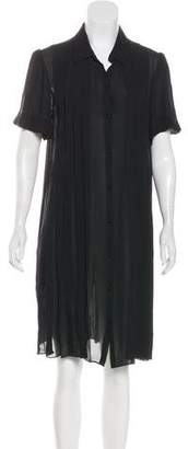 L'Agence Pleated Silk Dress