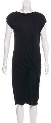 Akris Punto Cap Sleeve Midi Dress