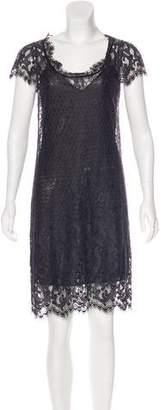 Diane von Furstenberg Short Sleeve Lace Dress