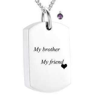 Keepsake Yinplsmemory My Brother My Friend Birthstone Cremation Memorial Ashes Necklace Urn Pendant