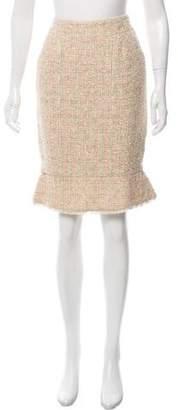 Chanel Tweed Peplum Skirt