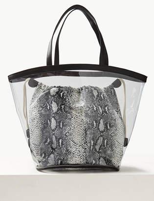 55549990bbc Marks and Spencer Transparent Shopper Bag