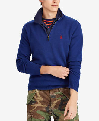 Polo Ralph Lauren Men's Half-Zip Cashmere Blend Sweater, Created for Macy's