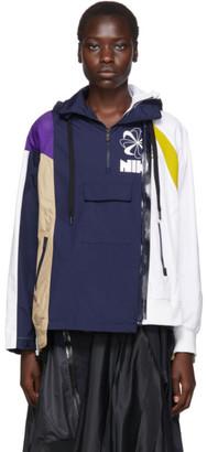 Nike Navy and Multicolor Sacai Edition NRG Ni-01 Hooded Anorak