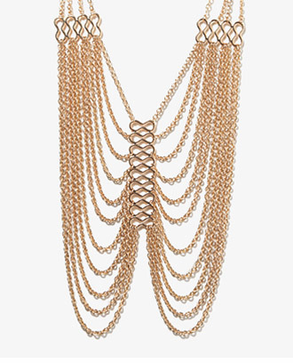 Forever 21 Draped Chain Necklace