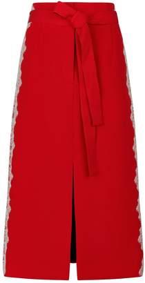 Robert Rodriguez Lace Trim Pencil Skirt