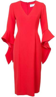 Prabal Gurung ruffle cuff V-neck dress