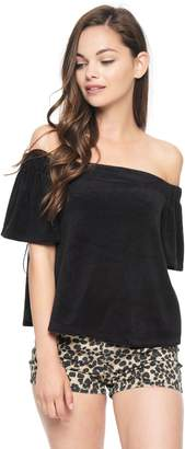Juicy Couture Micro Terry Off Shoulder Top