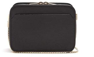 Valextra Dada Grained Leather Cross Body Bag - Womens - Black