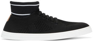 Fendi Black Knit High-Top Sneakers