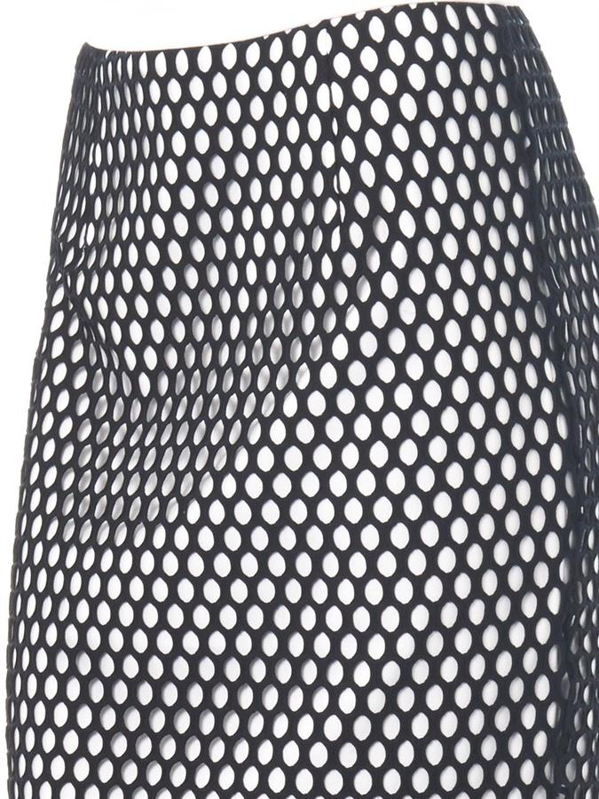 Elizabeth and James Heyden mesh-overlay skirt